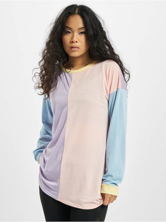 Missguided Пуловер 4 Colour Block Over Size цветной