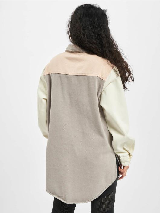 Missguided Рубашка Colourblock Oversized лаванда