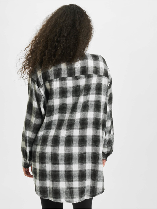 Missguided Рубашка Brushed Oversized Basic Check серый
