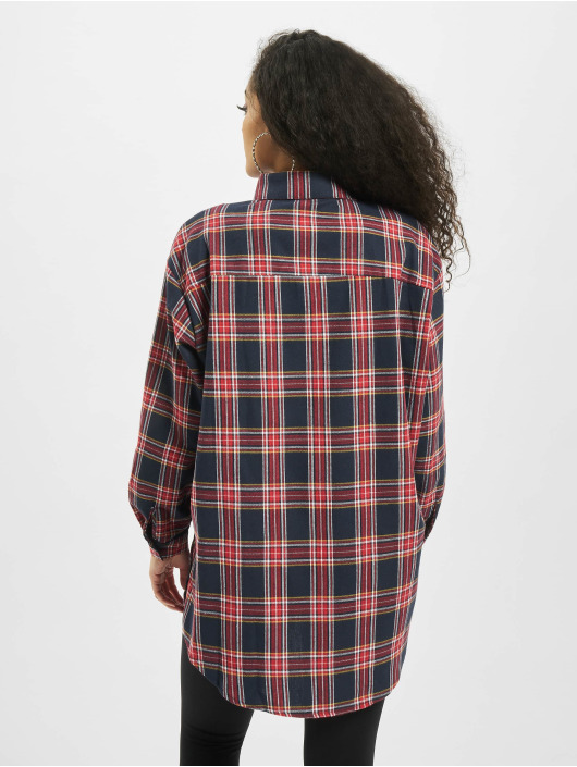 Missguided Рубашка Brushed Oversized Basic Check синий