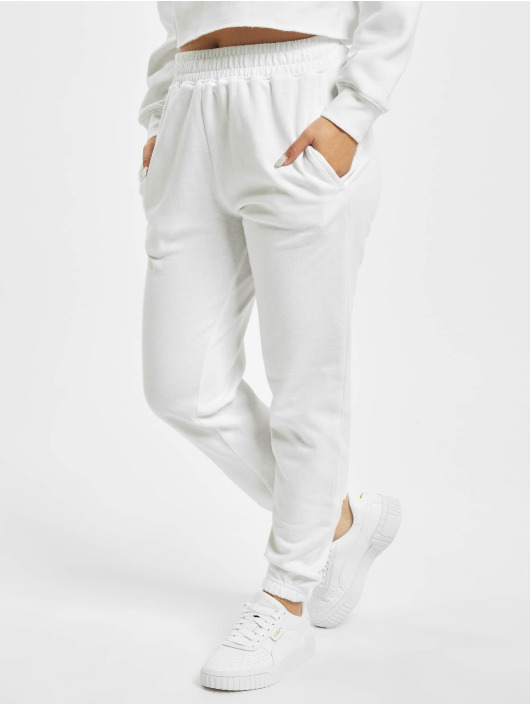 Missguided Спортивные брюки Petite White Basic белый