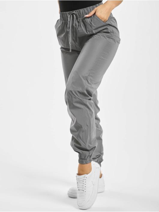 Missguided Спортивные брюки Reflective серебро