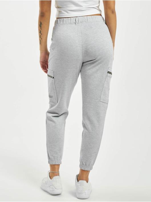 Missguided Спортивные брюки Pocket Detail High Waist серый