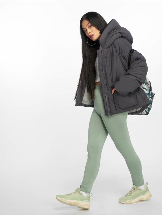 Missguided Стеганая куртка Hooded Ultimate серый