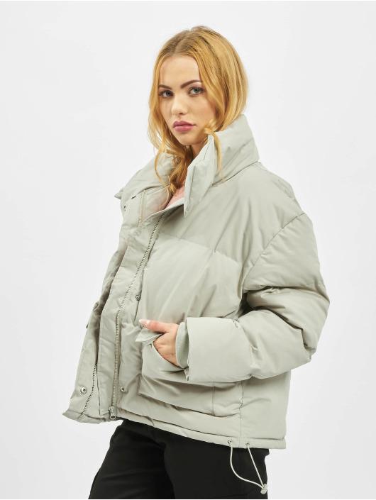 Missguided Стеганая куртка Ultimate серый