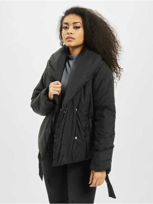 Missguided Стеганая куртка Wrap черный