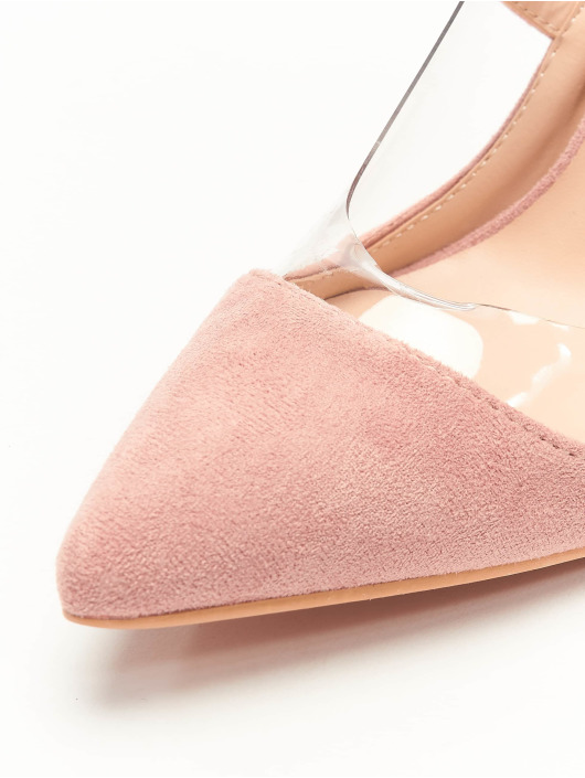 Missguided Туфли на каблуках Perspex Trim Court розовый