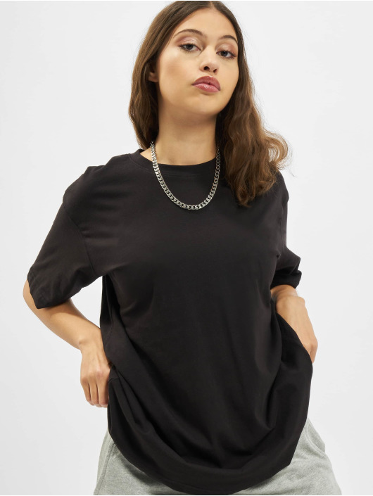 Missguided Футболка Drop Shoulder черный
