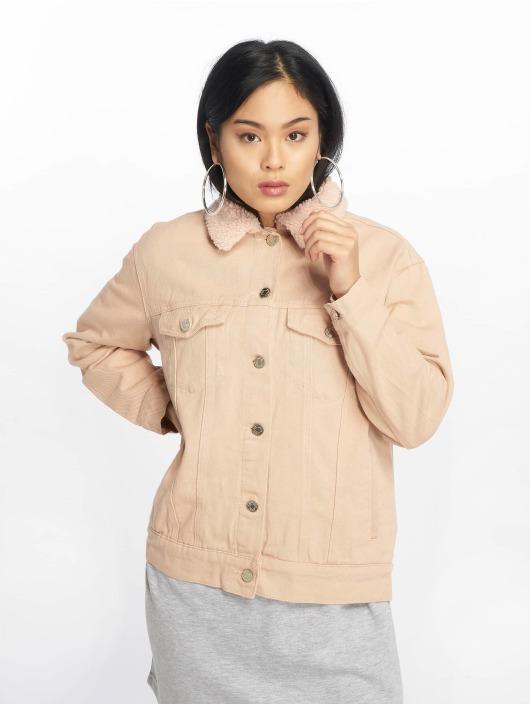 Missguided джинсовая куртка Oversized Teddy Faux розовый