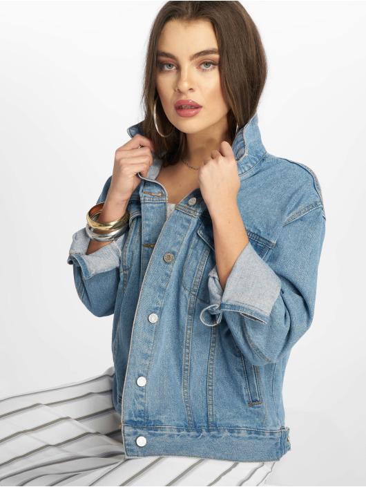 Missguided джинсовая куртка Oversized синий