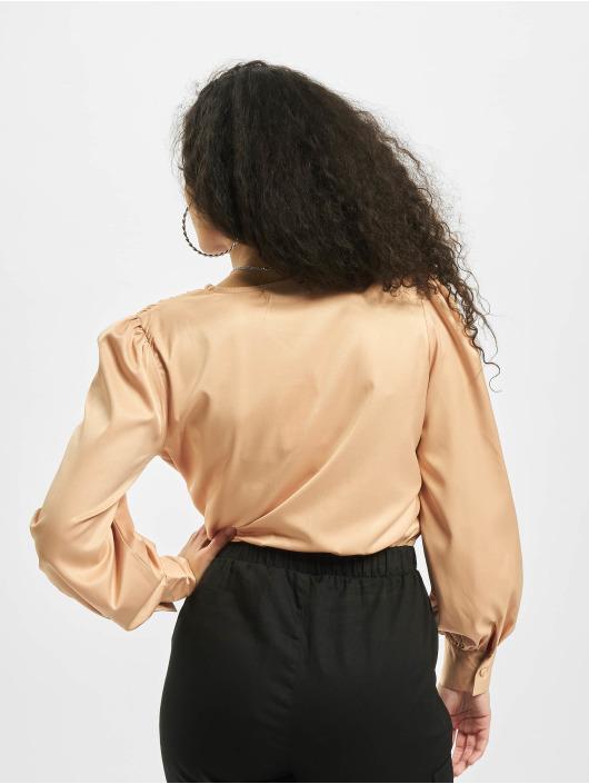 Missguided корсаж Covered Button Plunge коричневый