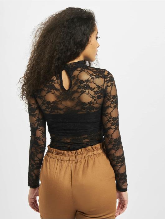 Missguided корсаж Lace High Neck Long Sleeve черный