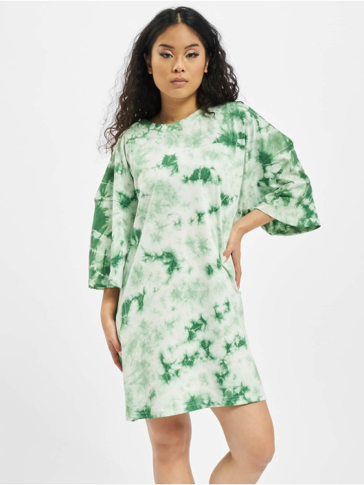 Missguided Abito Tie Dye Oversized verde