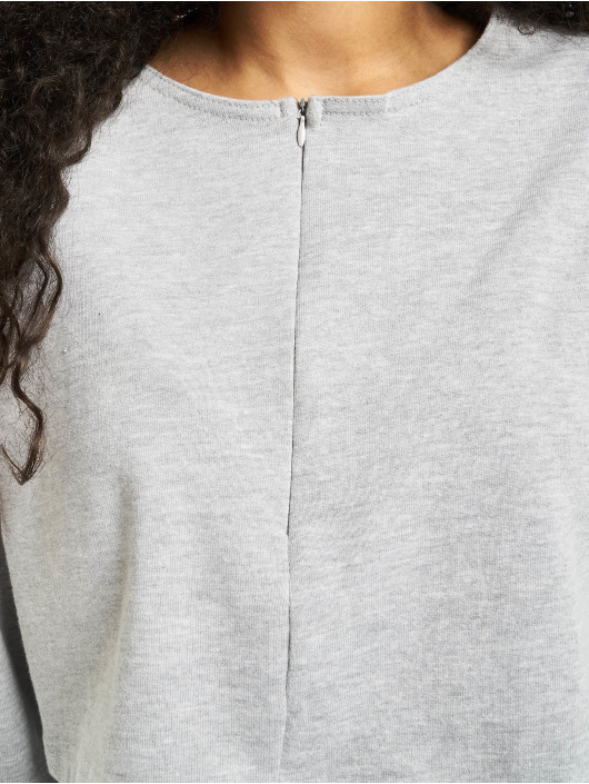 Missguided Anzug Zip Crop grau