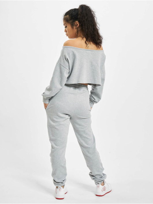 Missguided Anzug Coord Off The Shoulder grau