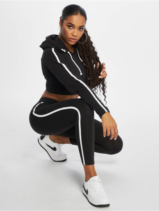 Missguided Anzug Single Stripe schwarz