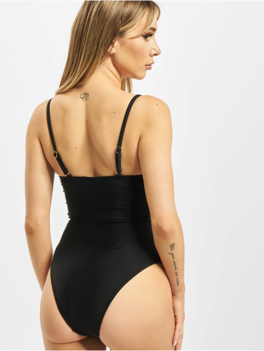 Missguided Bathing Suit Double Buckle Detail black