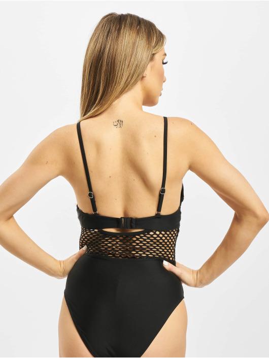 Missguided Bathing Suit Mesh Detail black