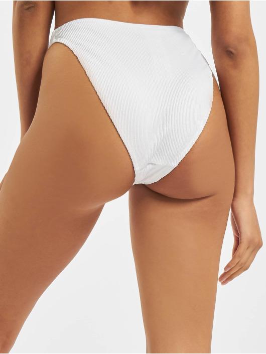 Missguided Bikinis Rib Boomerang hvit