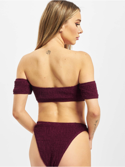 Missguided Bikinis Crinkle Milkmaid And Bottoms rot