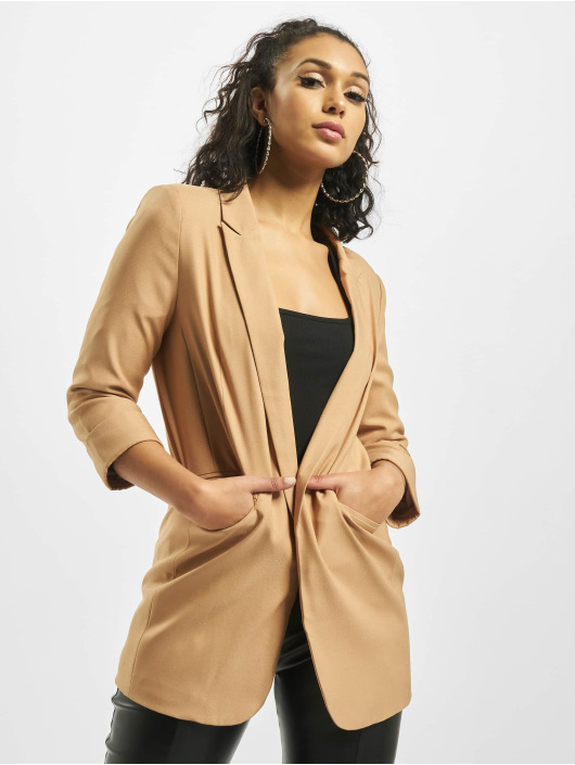 Missguided Blazer Co Ord Price Point Basic beis