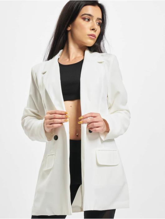 Missguided Blazer Tailored Longline white