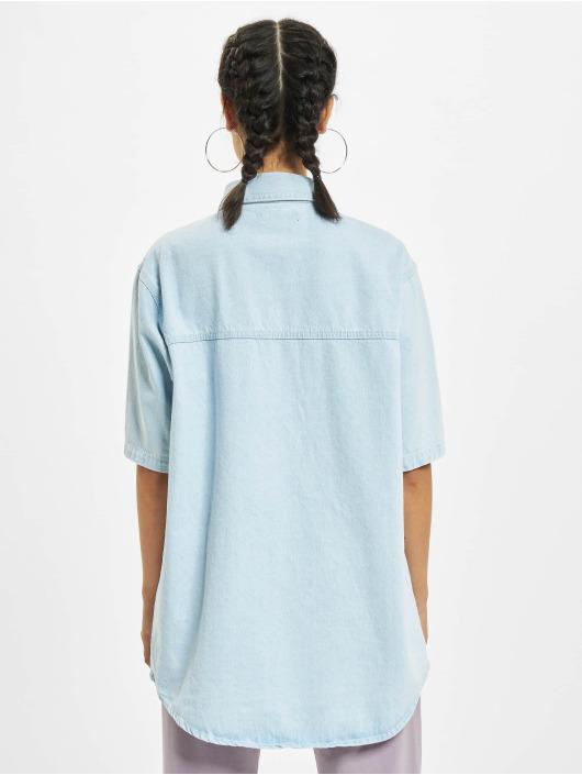 Missguided Blouse & Chemise Short Sleeve bleu
