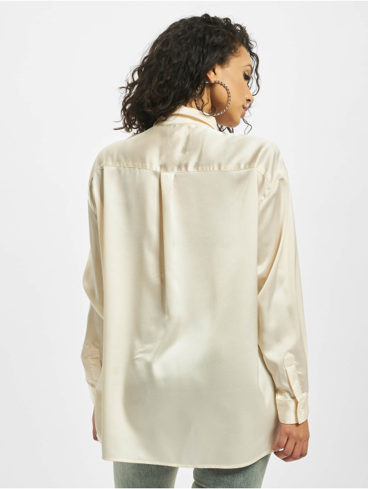 Missguided Blouse Nude Satin beige