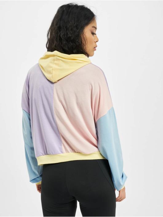 Missguided Bluzy z kapturem 4 Way Colour Block Over Size kolorowy