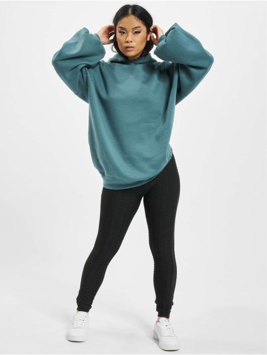 Missguided Bluzy z kapturem Oversize niebieski