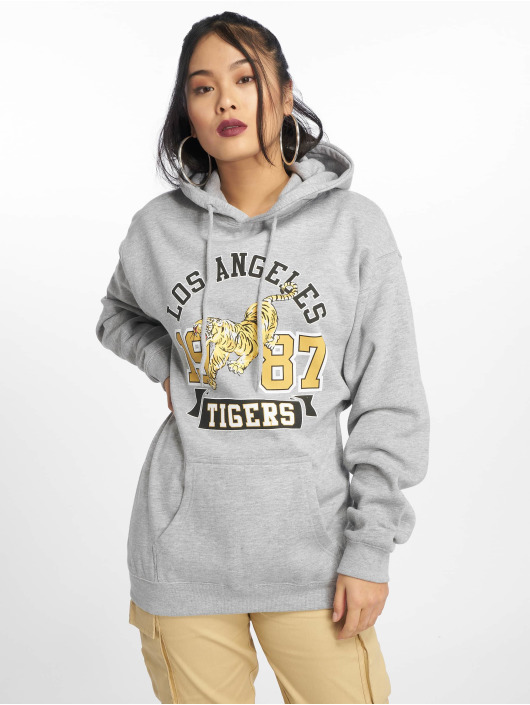 Missguided Bluzy z kapturem Los Angeles Tigers Graphic szary