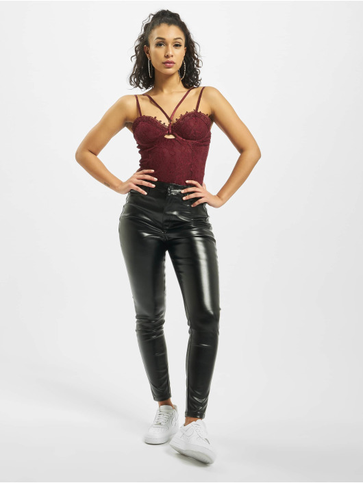 Missguided Body Lace Harness Cut Out èervená
