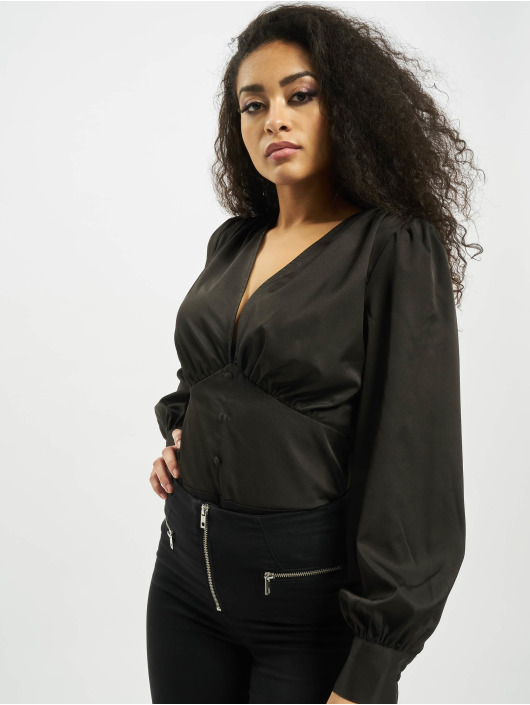Missguided Body Covered Button Plunge èierna