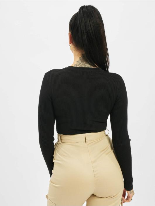 Missguided Body Tall Grandad Collar Long Sleeve čern