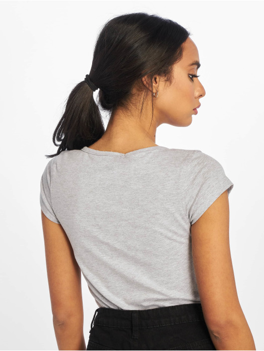Missguided Body Square Neck Button Front šedá
