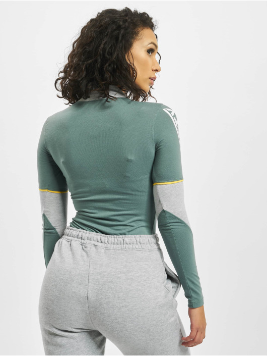 Missguided Body Motorcross Contrast Piping High Neck šedá