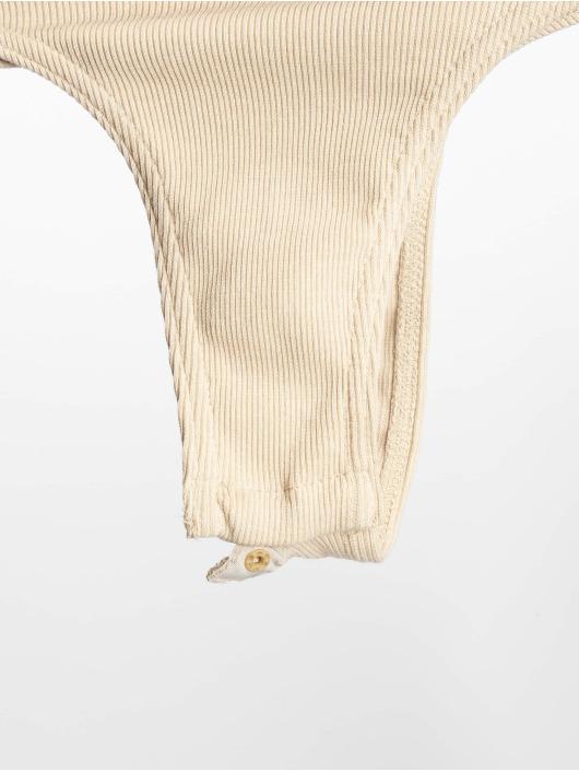 Missguided Body Horn Button Bardot béžová