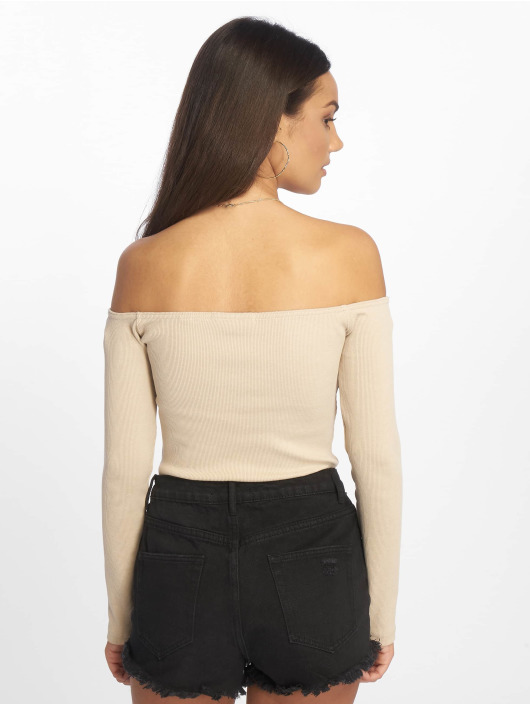 Missguided Body Horn Button Bardot bezowy