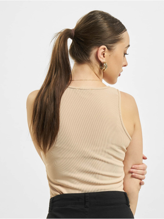 Missguided Body Petite Ribbed Racer Back bezowy