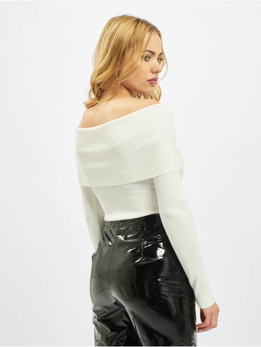 Missguided Body Extreme Fold Over Bardot bialy