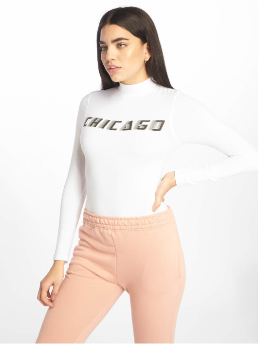 Missguided Body Chicago High Neck Long Sleeve biela