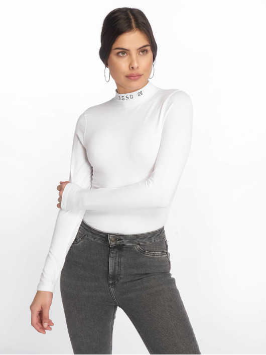 Missguided Body Msgd09 High Neck Long Sleeve biela