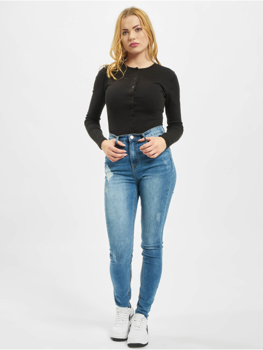 Missguided Body Petite Button Front black