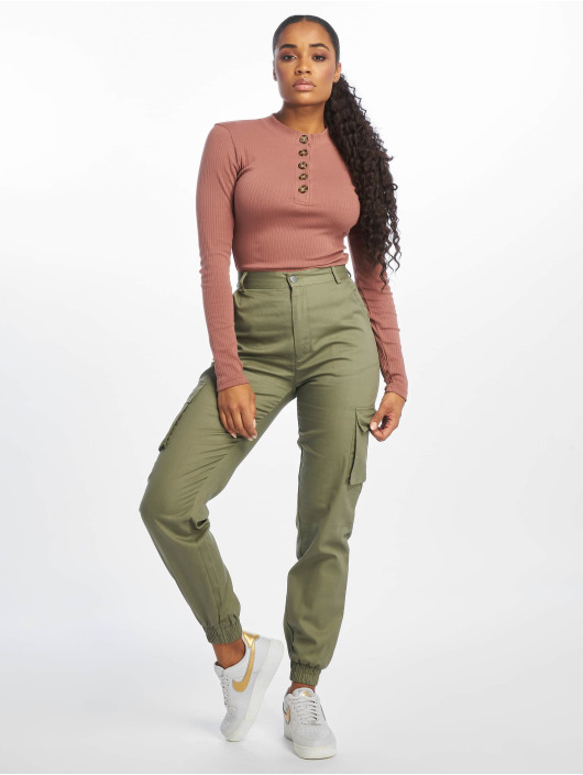 Missguided Body Horn Button Long Sleeve brown
