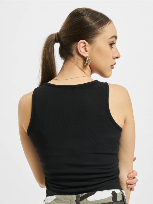 Missguided Body Petite Ribbed Racer Back czarny