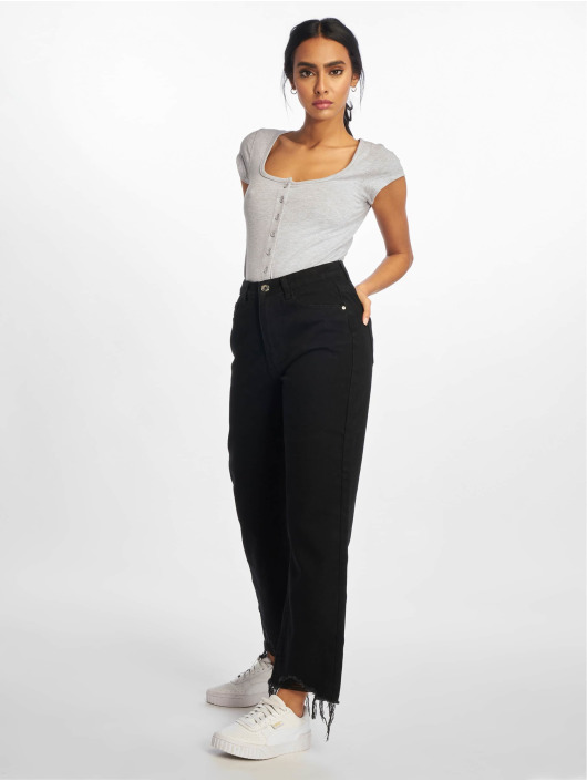 Missguided Body Square Neck Button Front grå