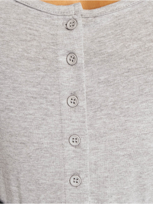 Missguided Body Square Neck Button Front gray