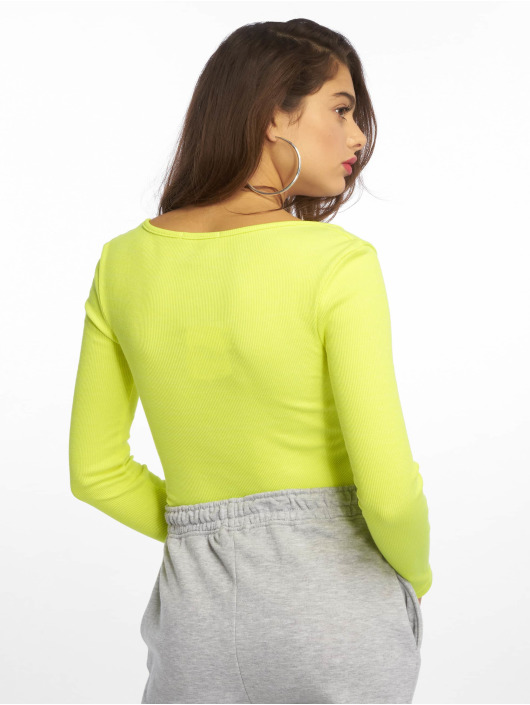 Missguided Body Zip Front Scoop Neck LS green