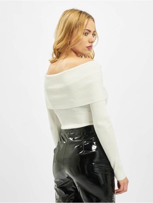 Missguided Body Extreme Fold Over Bardot hvit