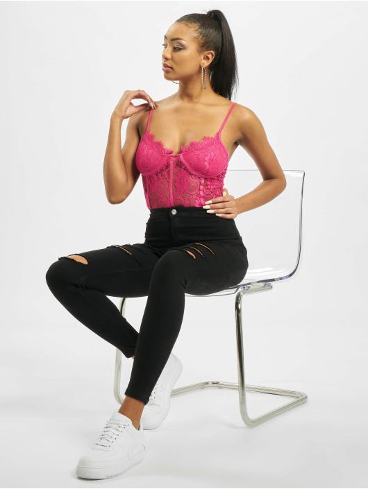Missguided Body Lace Strappy lyserosa